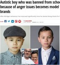 【海外発!Breaking News】学校の記念写真を禁じられた自閉症の少年、H&Mのモデルに(英)