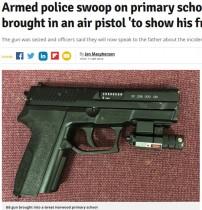 【海外発!Breaking News】武装警官が小学校を強襲 8歳男児がエアガンを持ち込んだせいで(英)