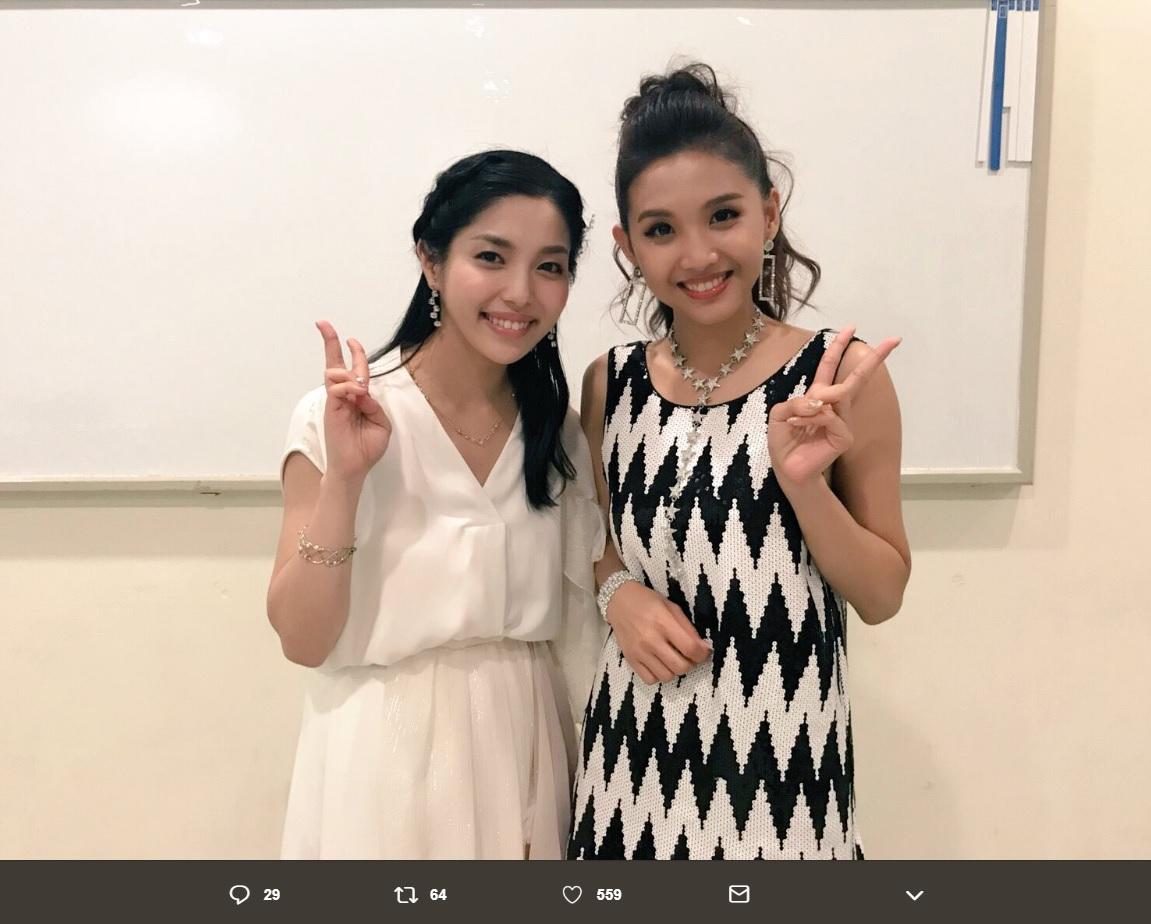 城南海とBeverly(画像は『城南海(きずき みなみ) 2018年9月23日付Twitter「Power Of Voice 2018!参加させて頂きました」』のスクリーンショット)