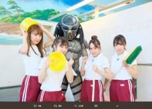 """【エンタがビタミン♪】SKE48×プレデター、まさかの""""銭湯""""でシュールなコラボショット"""