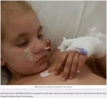【海外発!Breaking News】体調異変から2年後に悪性腫瘍が発覚 病と闘う5歳児の家族、誤診した医師らに怒り(英)