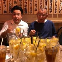 """【エンタがビタミン♪】笑福亭鶴瓶の前に大量のレモンサワー """"松鶴一門""""飲み会に「EXILEみたい」の声"""