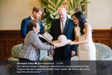 【イタすぎるセレブ達】ヘンリー王子&メーガン妃、ベビーギフト第1号はオーストラリア総督から カンガルーのぬいぐるみとUGGのブーツ