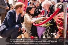 """ヘンリー王子、98歳""""旧友""""とシドニーで再会 メーガン妃は「次回は子供も一緒にお会いできたら」"""