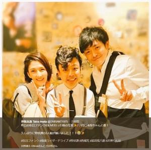 【エンタがビタミン♪】『仮面ライダードライブ』キャストが再会、井俣太良「特状課の3人組が揃いました!」