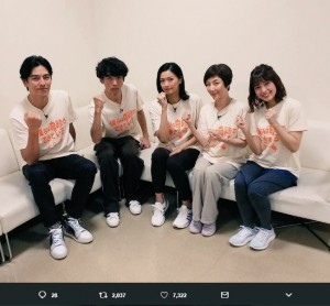 『VS嵐』での『ボクキセ』チーム(画像は『火9公式 僕らは奇跡でできている』 2018年10月3日付Twitter「出演情報」』のスクリーンショット)