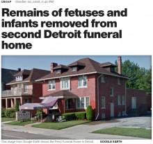 【海外発!Breaking News】葬儀場で埋葬されないままの胎児や乳児の遺体63体見つかる(米)