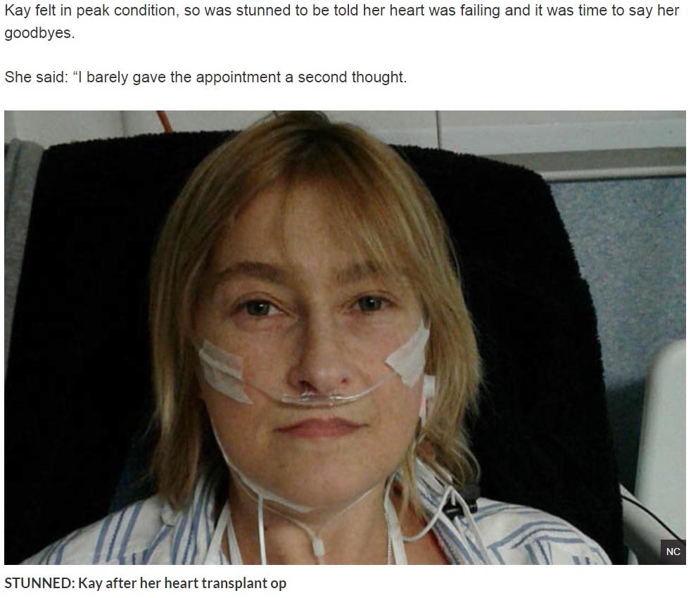 医師に「あなたの命はあと2時間ほど」と宣告された女性(画像は『Daily Star 2018年9月30日付「Mum told she had just HOURS to live during routine check-up」(NC) 』のスクリーンショット)