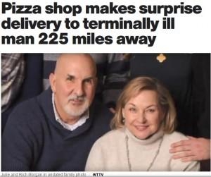 【海外発!Breaking News】末期がん男性のために、昔馴染みのピザ店が州を越えてデリバリー(米)