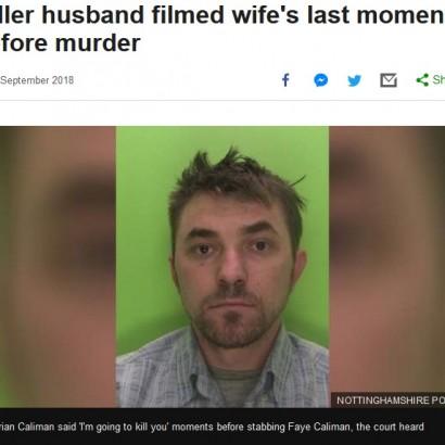 【海外発!Breaking News】妻への暴行を動画に収め殺害した夫、「ごめん」と義母にメッセージ送る(英)