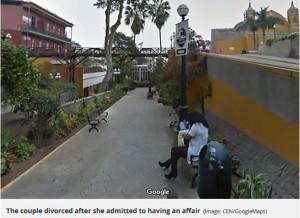現場は皮肉にも観光地として有名な「ため息橋」の近くだった(画像は『Mirror 2018年10月12日付「Google Maps causes divorce after husband spots 'cheating' wife cuddling another man」(Image: CEN/GoogleMaps)』のスクリーンショット)
