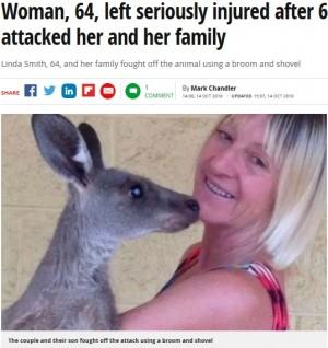 【海外発!Breaking News】体長1.8メートルの野生カンガルーに襲われ女性が重傷(豪)