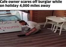 【海外発!Breaking News】「見えてるぞ!」 スマホの監視カメラを通して海外から空き巣を追い払った店主(英)<動画あり>