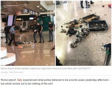 【海外発!Breaking News】空港一時騒然、爆弾入りと思われたスーツケースの中身は大量のココナッツ(伊)
