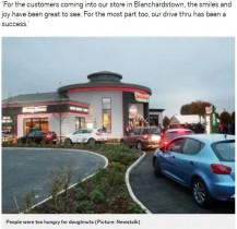 【海外発!Breaking News】クリスピー・クリーム・ドーナツの24時間営業ドライブスルー 車の大騒音で営業時間を切り上げる(アイルランド)<動画あり>