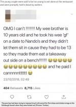 【海外発!Breaking News】10歳の少年、デートでレストランに入るも追い出される(英)