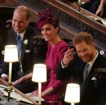 【イタすぎるセレブ達】ウィリアム王子&キャサリン妃、ユージェニー王女の挙式で貴重なラブラブ姿見せる