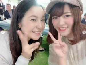 【エンタがビタミン♪】SKE48山内鈴蘭、馬場由美子プロと2ショット「私、ゴルフ頑張るからね!」