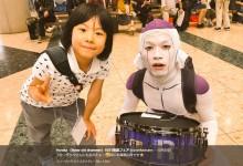 """【エンタがビタミン♪】よよか&フリーザック""""道産子ドラマーコンビ""""ショット 『楽器フェア』で実現"""