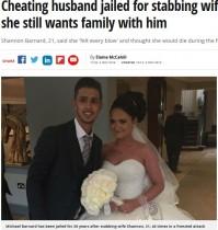 【海外発!Breaking News】夫に46回刺された妻、「それでも許す。彼との子供も欲しい」(英)