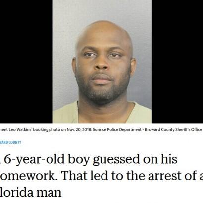 【海外発!Breaking News】宿題を憶測で答えた6歳息子の頭をスマホで殴打した父、逮捕される(米)