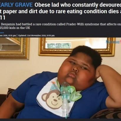 【海外発!Breaking News】トイレットペーパーやゴミまで…食べ続ける難病と闘ってきた少年、11歳でこの世を去る(南ア)