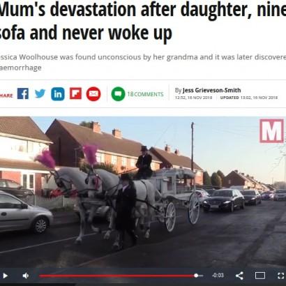 【海外発!Breaking News】昼寝から目覚めず、9歳少女が突然の脳内出血で死亡(英)