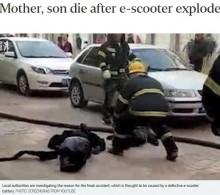 【海外発!Breaking News】充電中の電動スクーターが爆発 母子2人死亡(中国)