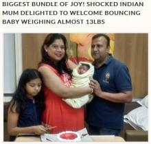 【海外発!Breaking News】インドで5,783gの赤ちゃん誕生 母親「まさにビッグ・サプライズ」と大喜び