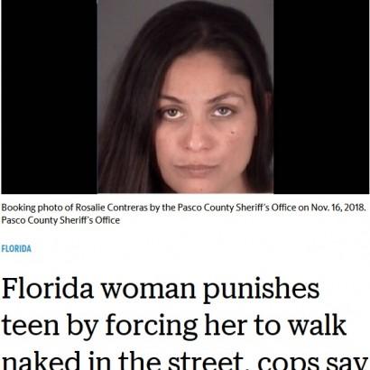 【海外発!Breaking News】「態度が悪い罰」13歳少女を全裸で歩かせた34歳女が逮捕(米)