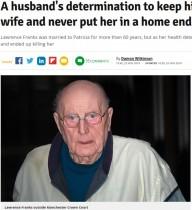 【海外発!Breaking News】認知症の妻(86)を殺害した夫(84)に実刑与えず 判事「この判決は全く持って特例」(英)