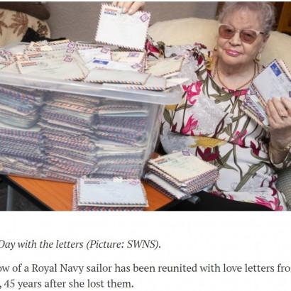 【海外発!Breaking News】亡き夫からの手紙が45年ぶりに発見され妻の元へ(英)