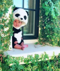 パンダコスチュームのトゥルーちゃん(画像は『Khloe 2018年10月31日付Instagram「Happy Halloween!!!!」』のスクリーンショット)