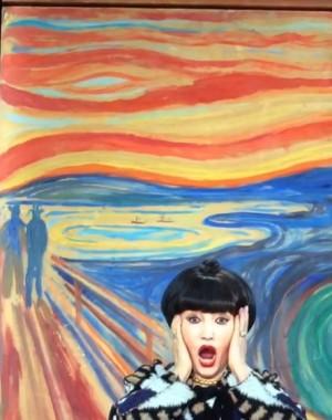 """【エンタがビタミン♪】黒柳徹子が絵画の世界に入り込む """"徹子の叫び""""に違和感なさすぎ"""