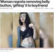 """【海外発!Breaking News】家族への腹いせに自分の""""ヘソ""""を摘出した女性、過去を悔やむ(メキシコ)"""