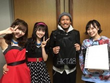 【エンタがビタミン♪】指原莉乃・本村碧唯・豊永阿紀 『777んてったってHKT48』訪れたアビスパ福岡・鈴木惇と記念写真