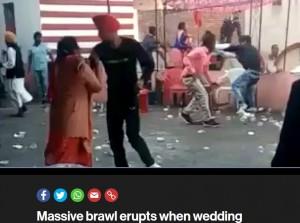 【海外発!Breaking News】結婚式で料理が足りず大乱闘に(印)<動画あり>