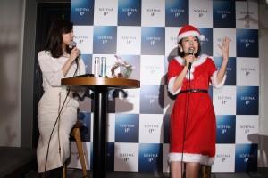 『SOFINA iPスペシャルトークショー』でトークする横澤夏子