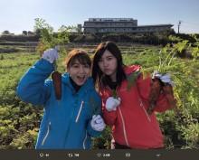 【エンタがビタミン♪】SKE48松井珠理奈&大場美奈、新番組で野菜収穫ロケ「毎回出たい」「おじゅりがイキイキしてた」