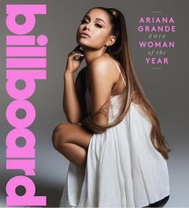 「2018 ウーマン・オブ・ザ・イヤー」に輝いたアリアナ・グランデ(画像は『Ariana Grande 2018年12月5日付Instagram「@billboard」』のスクリーンショット)