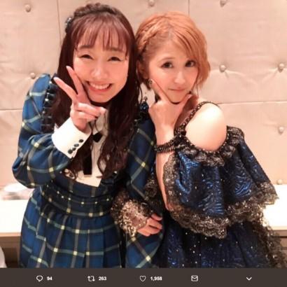 【エンタがビタミン♪】SKE48須田亜香里、憧れの矢口真里と2ショットにファン「見習うべきとこは見習って」