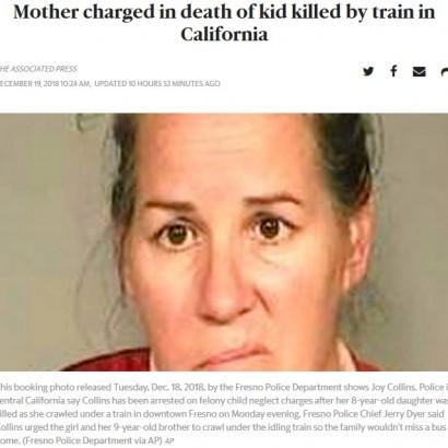 【海外発!Breaking News】「近道だから」と母親 列車の下をくぐり抜けようとした8歳少女が轢かれて死亡(米)