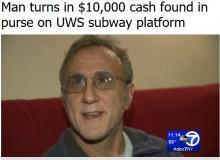 【海外発!Breaking News】NYの地下鉄で110万円の現金を拾った男性(米)