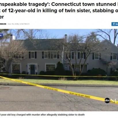 【海外発!Breaking News】12歳少年が双子の妹を刺殺 母親にも襲い掛かる 「なぜ?」明らかにされない動機(米)