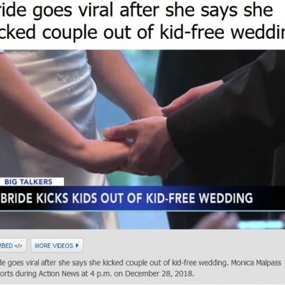 【海外発!Breaking News】「子供お断り」の結婚式に子連れで参加したカップルを花嫁が追い出す(米)
