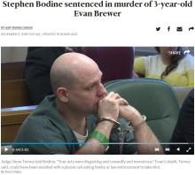 【海外発!Breaking News】恋人の3歳息子を虐待しコンクリート詰めにした男に懲役109年(米)