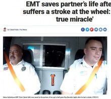 【海外発!Breaking News】救急車を運転中に脳梗塞を起こした救急救命士、同僚に救助される 「本当に幸運だった」(米)