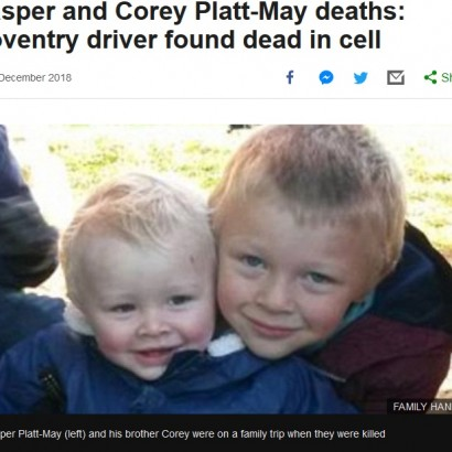 【海外発!Breaking News】2人の男児の命を奪った男、クリスマスの日に刑務所内で死亡 祖母は「地獄で朽ち果てろ」(英)