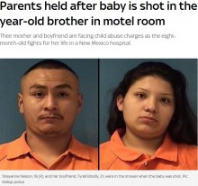 【海外発!Breaking News】母親(18)が恋人とシャワー中に、3歳息子が8か月の妹を銃で撃つ(米)