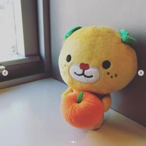 SASUKEが香取慎吾たちにプレゼントしたみきゃんのぬいぐるみ(画像は『香取慎吾 2018年12月26日付Instagram「#amazonmusic のCMで流れている曲 #singing を作ってくれた中学生 #sasuke くんに会った時 彼は僕らに人形をプレゼントしてくれた。」』のスクリーンショット)